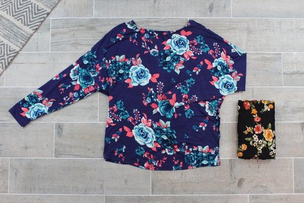 A Floral Twist Top