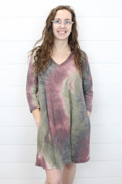 Purple Clouds Tie Dye Dress