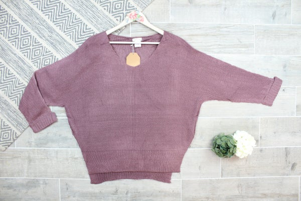 Off The Shoulder Hi Low Sweater