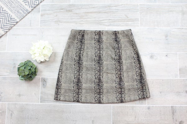 Sassy Snake Mini Skirt