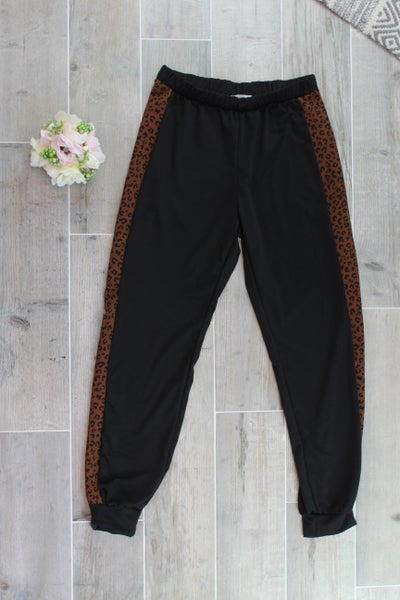 A Little Bit Of Leopard Joggers