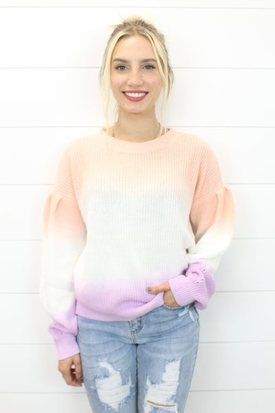 Ombre Color Block Sweater