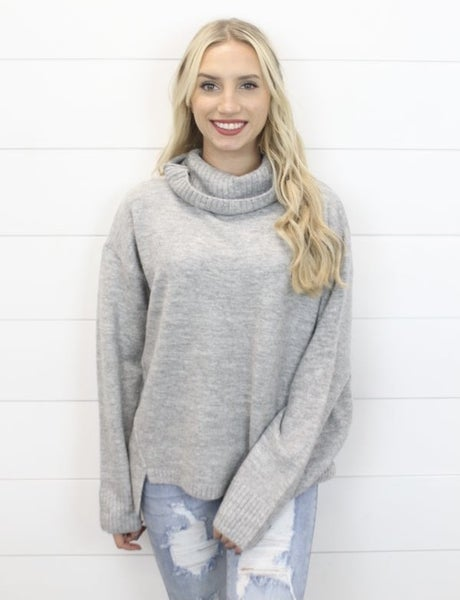 Warm And Comfy Cowl Neck Sweater