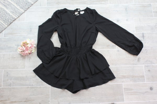 Open Back Ruffle Romper