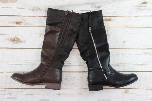 Mid Calf ZIp Boots