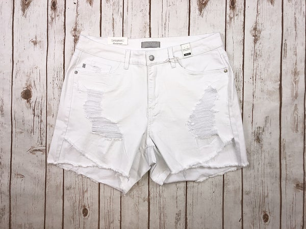 White Distressed Tulip Judy Blue Shorts