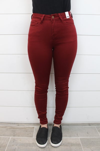 Judy Blue High Waist Colored Skinny Jeans
