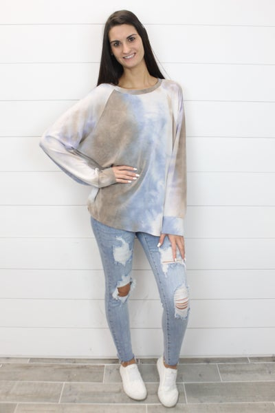 Dusty Skies Tie Dye Top
