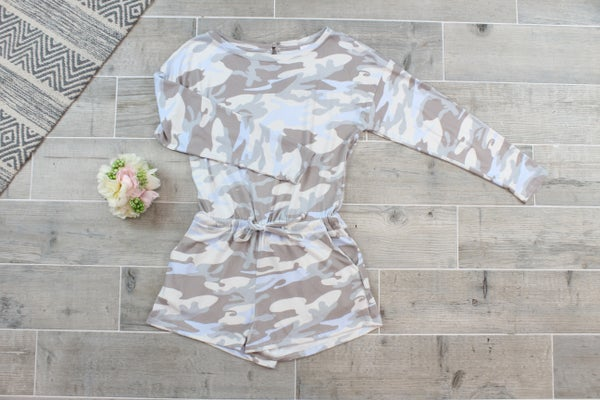 Cute In Camo Romper