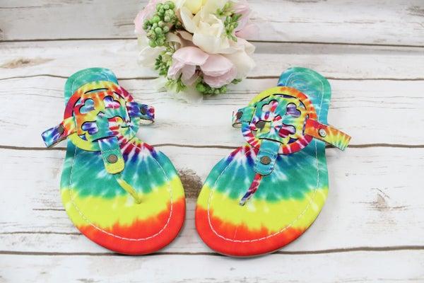 Groovy Tie Dye Sandals