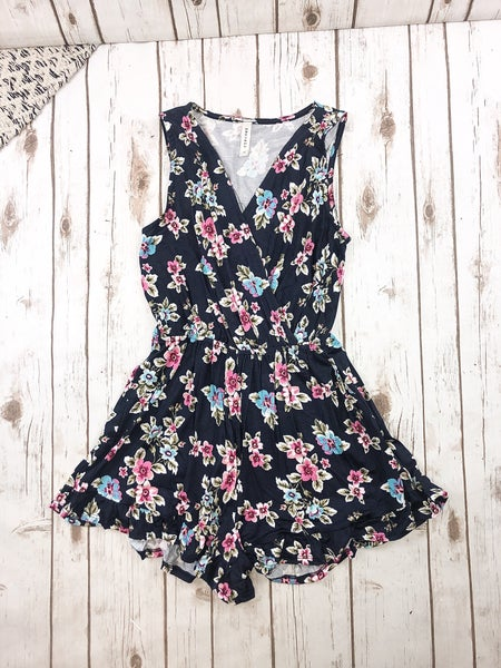 V Neck Romper with Some Ruffles