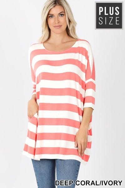 Summer Stripes Top Plus