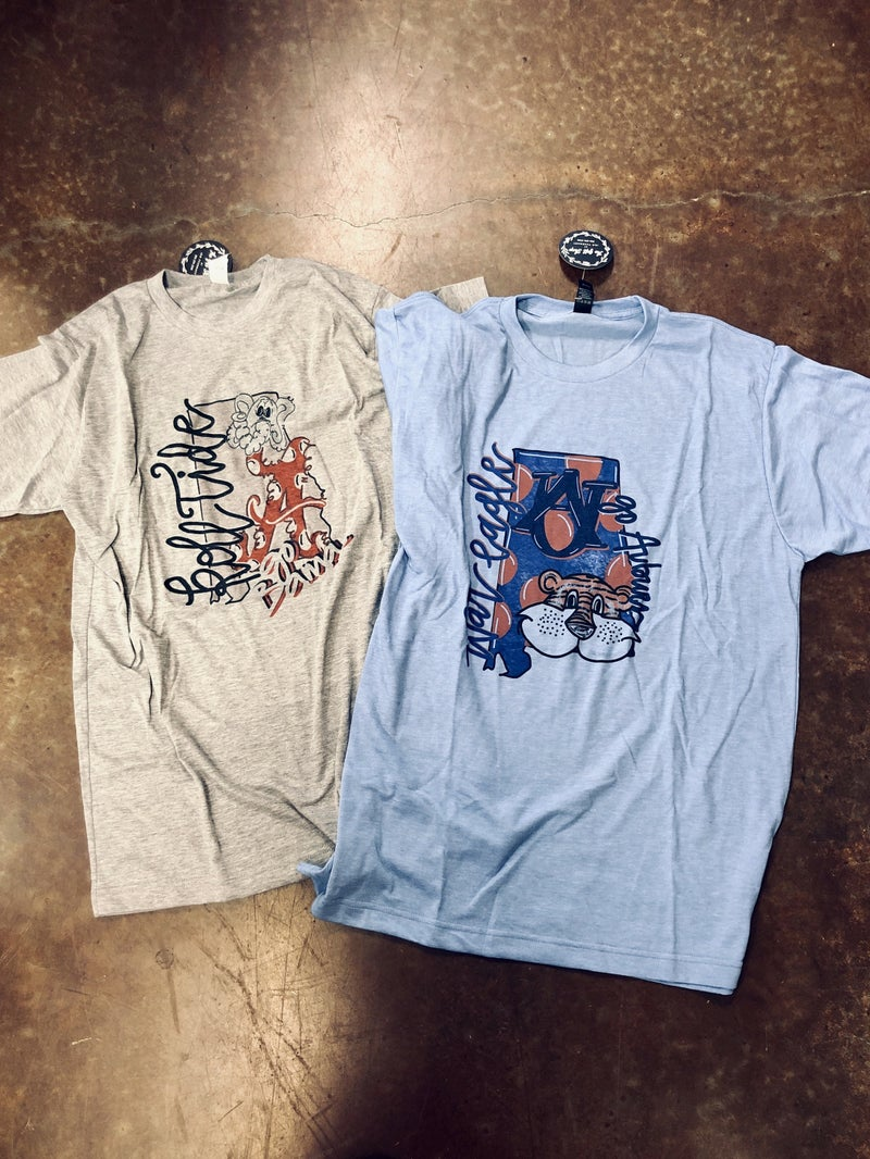 Auburn / Alabama Gameday Shirts