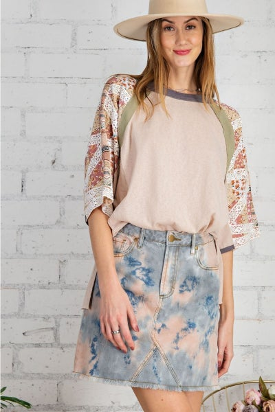 Easel Dream Girl Boxy Top