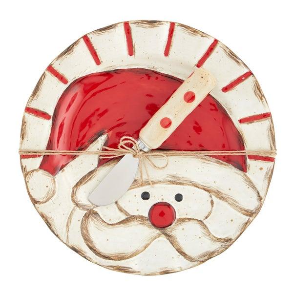 Mud Pie Christmas Farmhouse Cheese Set