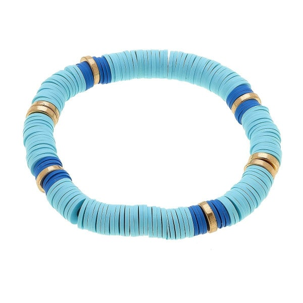 Emberly Color Block Bracelet In Aqua