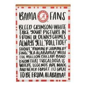 Glory Haus Alabama Fan Block Canvas