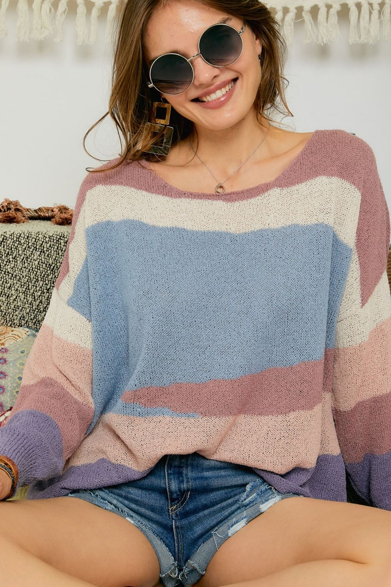 Multi Color Relaxed Fit Sweater