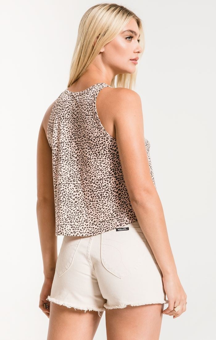 Z- Supply Pale Blush Mini Leopard Swing Tank