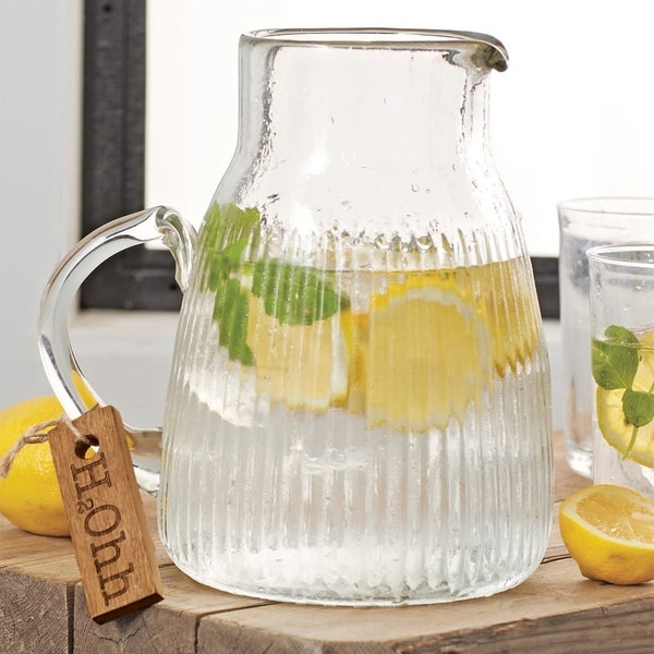 Mud Pie Water Glass Water Pitcher