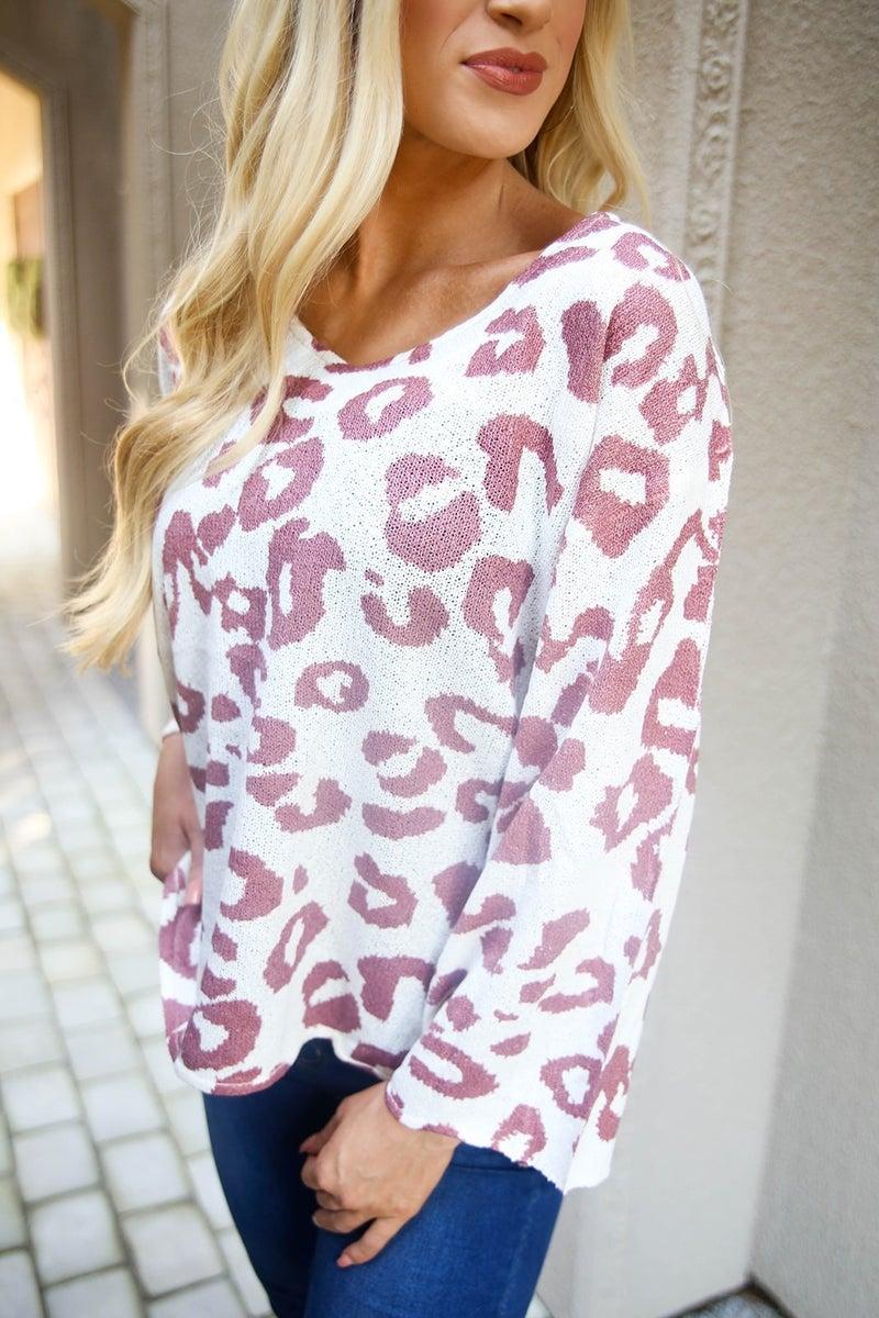 The Fiona POL Cheetah Sweater