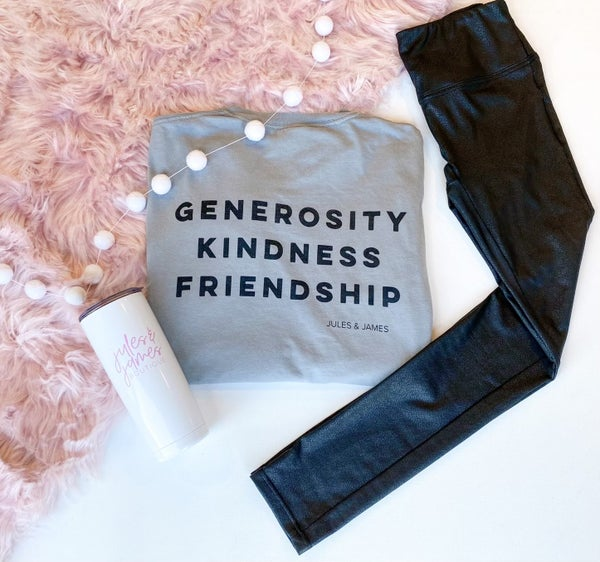Generosity.Kindness.Friendship Longsleeve Tee