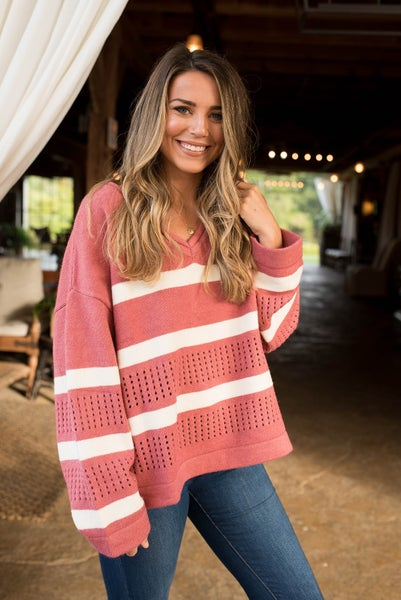 Stripe A Pose Sweater