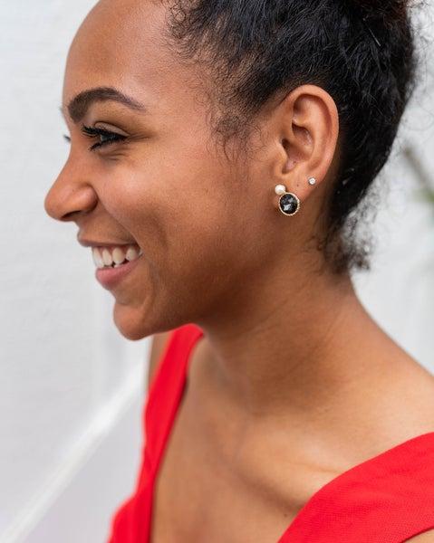 Pearl Accent Stud Earrings *Final Sale*