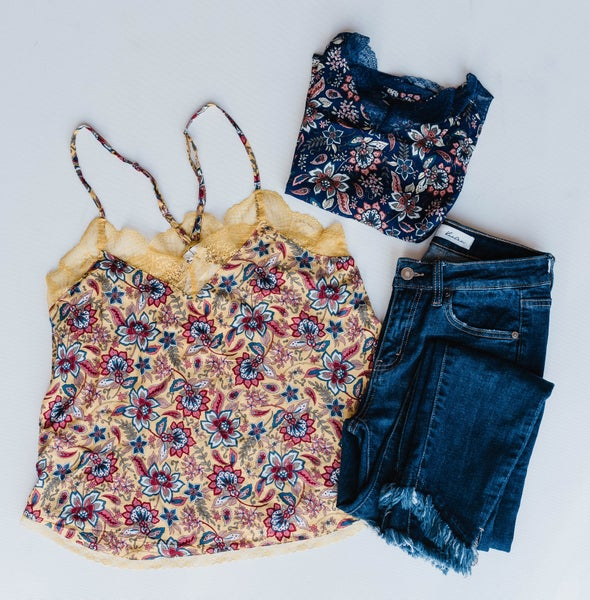 Falling Into Florals Tank