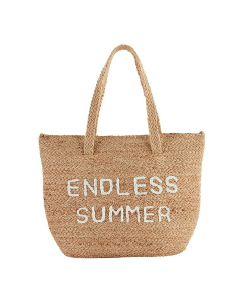 Mud Pie Jute Cooler Tote