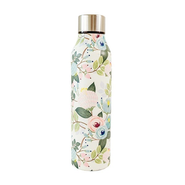 Stainless Bottle Peach Floral
