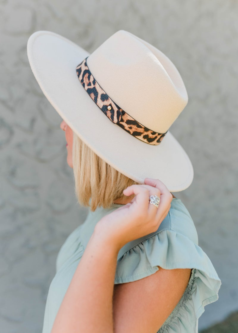 Touch of Cheetah Wide Brim Felt Hat