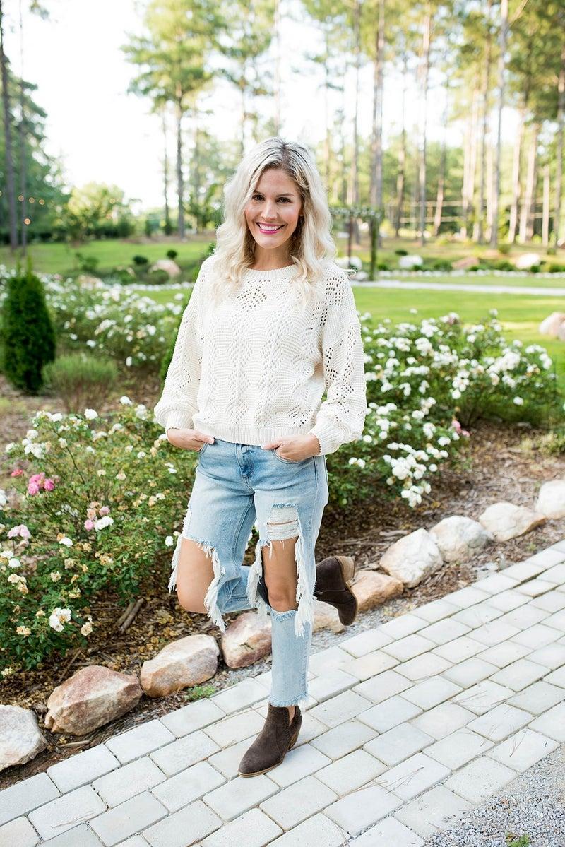 Weekend in the Hamptons Sweater