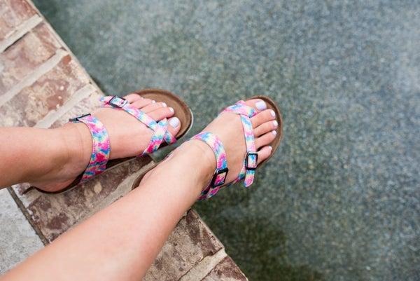 The Maisie Tie Dye Sandals