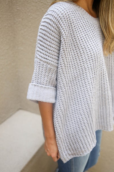 In Love with Grey POL Sweater