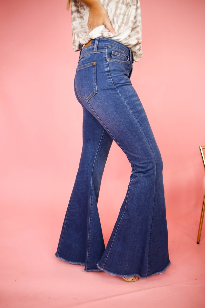 High Rise Judy Blue Bell Bottoms