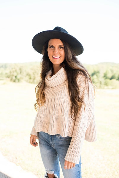POL Cream Sweater