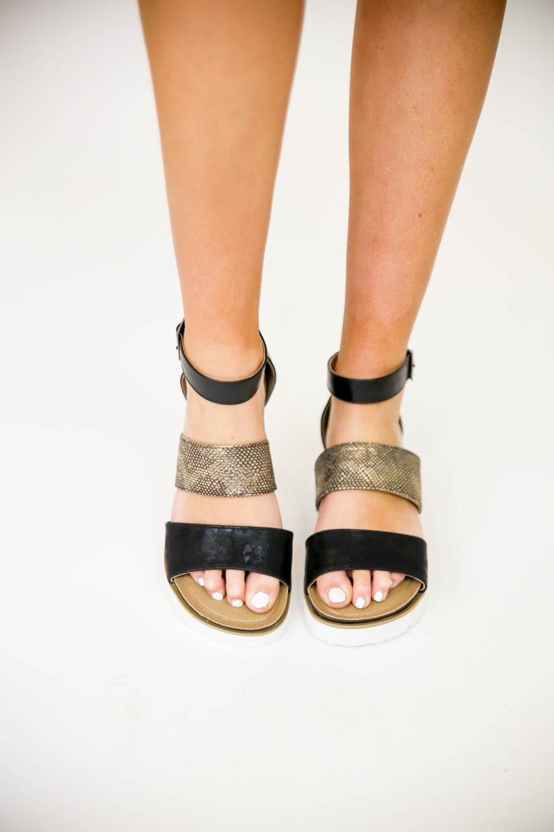 Can't Tame These Corkys' Sandals