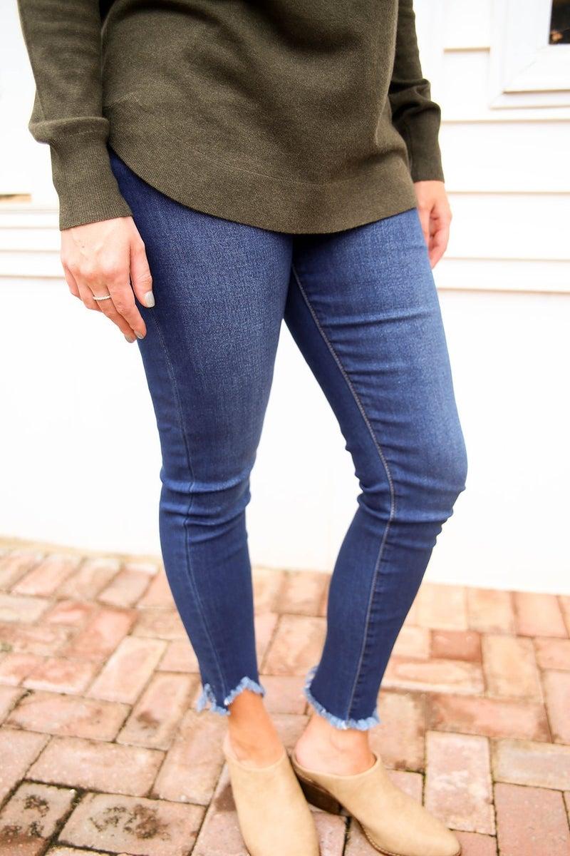 The Sofia High Rise Skinny Jeans
