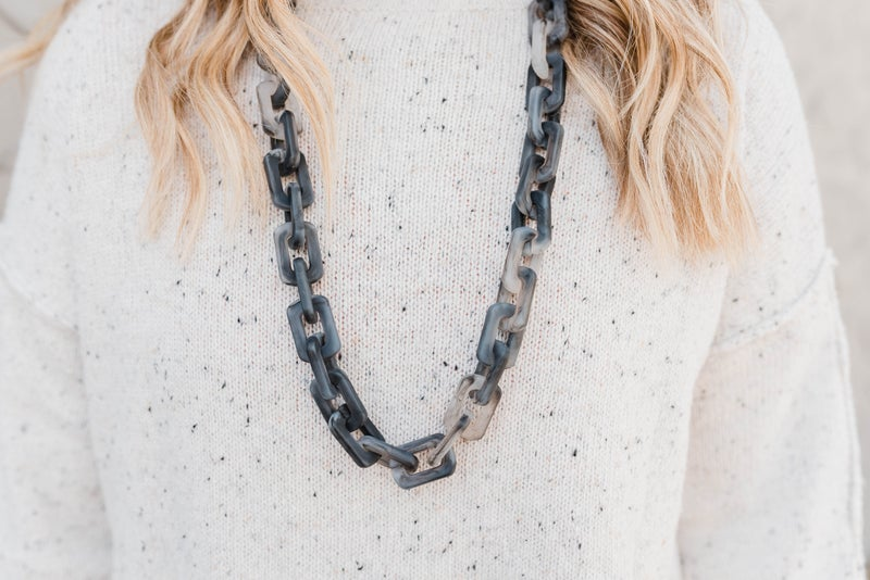Chunky Resin Chain Long Necklace