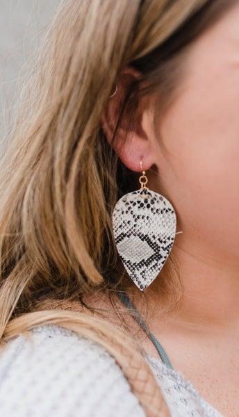 The Isabelle Snakeskin earrings
