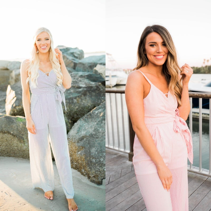 Walk This Way Jumpsuit - Hot Pink Deal *Final Sale*