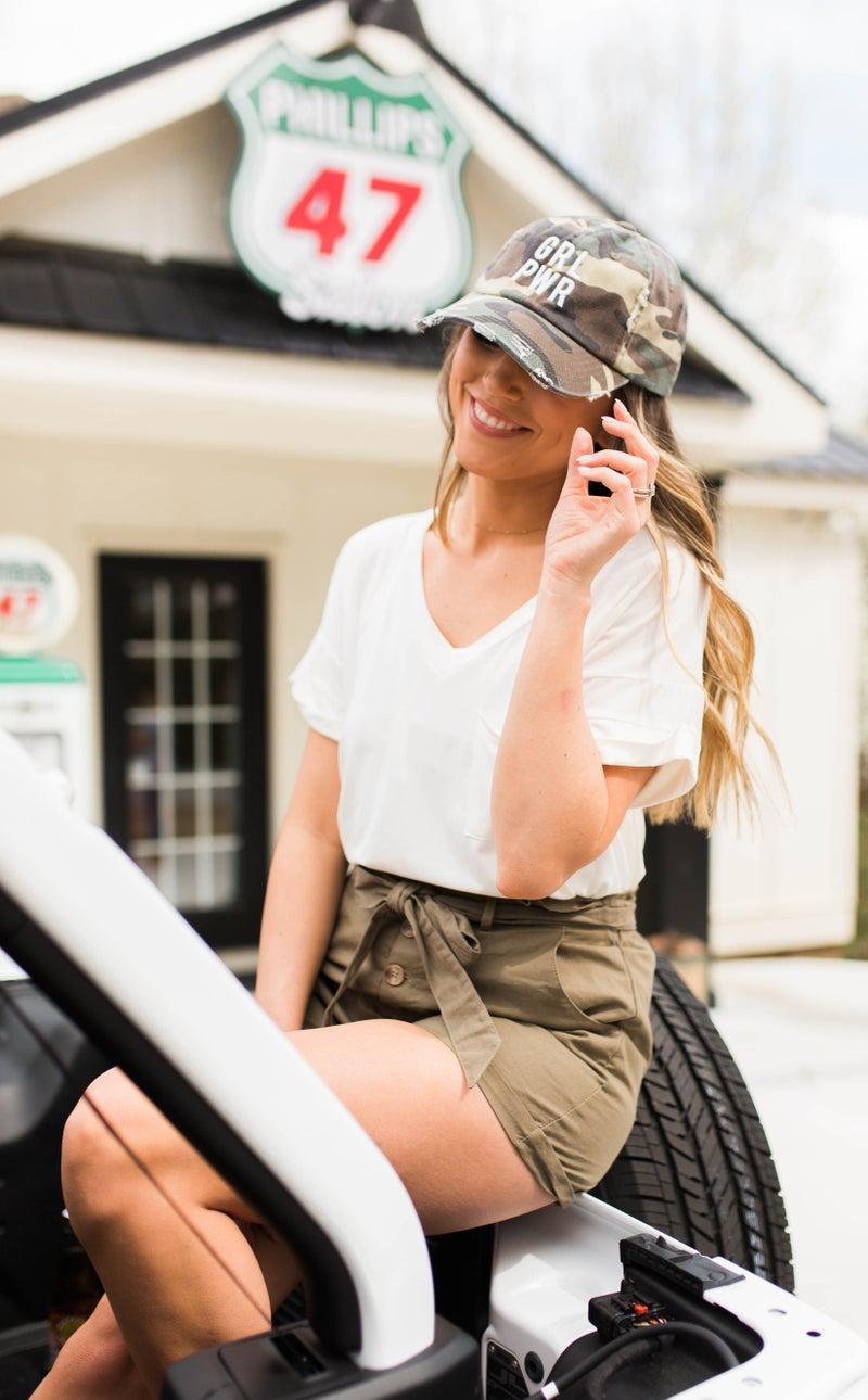 Girl Power Camo Hat