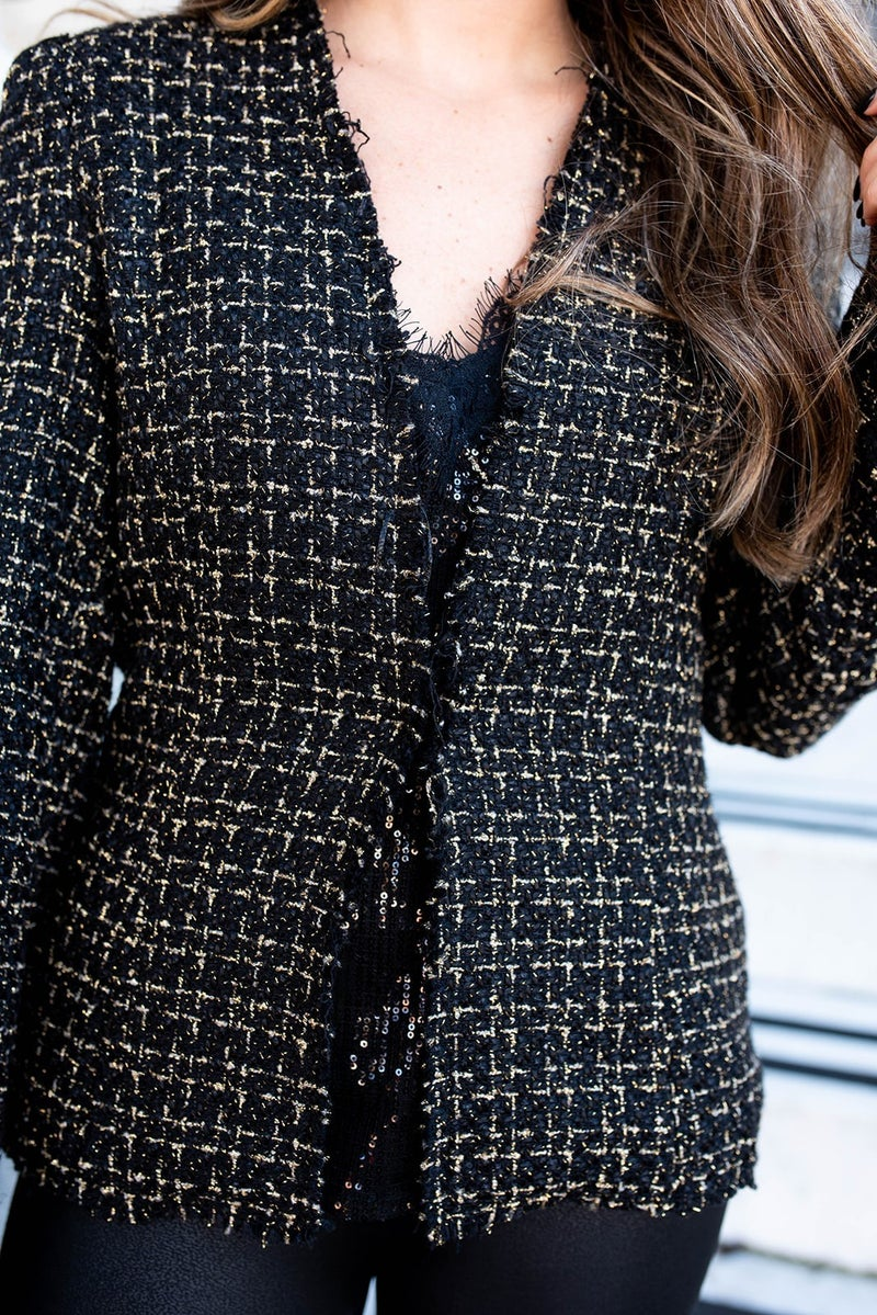 All or Nothing Tweed Blazer