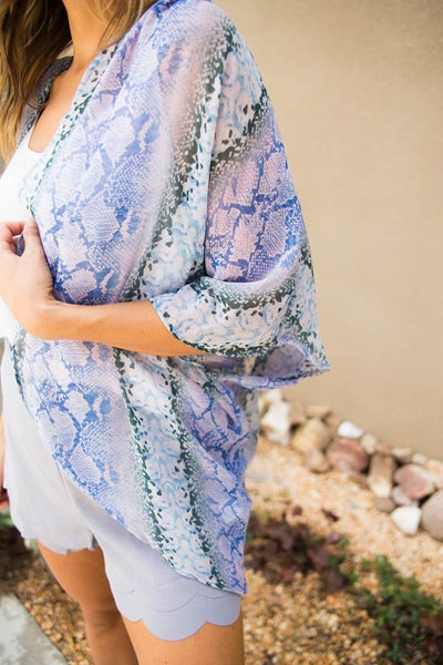 Desert Sun Snakeskin Kimono *Final Sale*