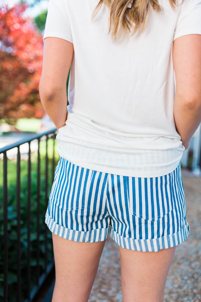 A New Direction Striped Shorts