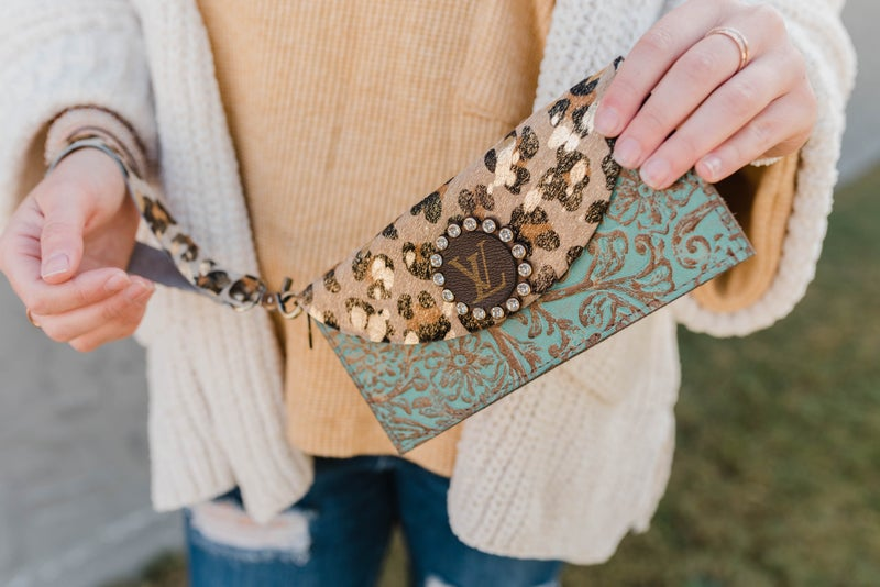 The Blanch Upcycled LV Wristlet