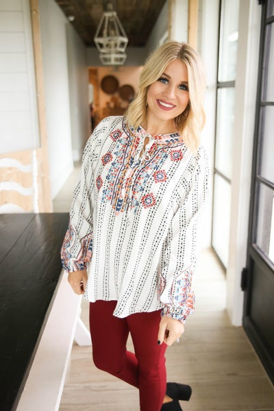 Gorgeous in Embroidery Top