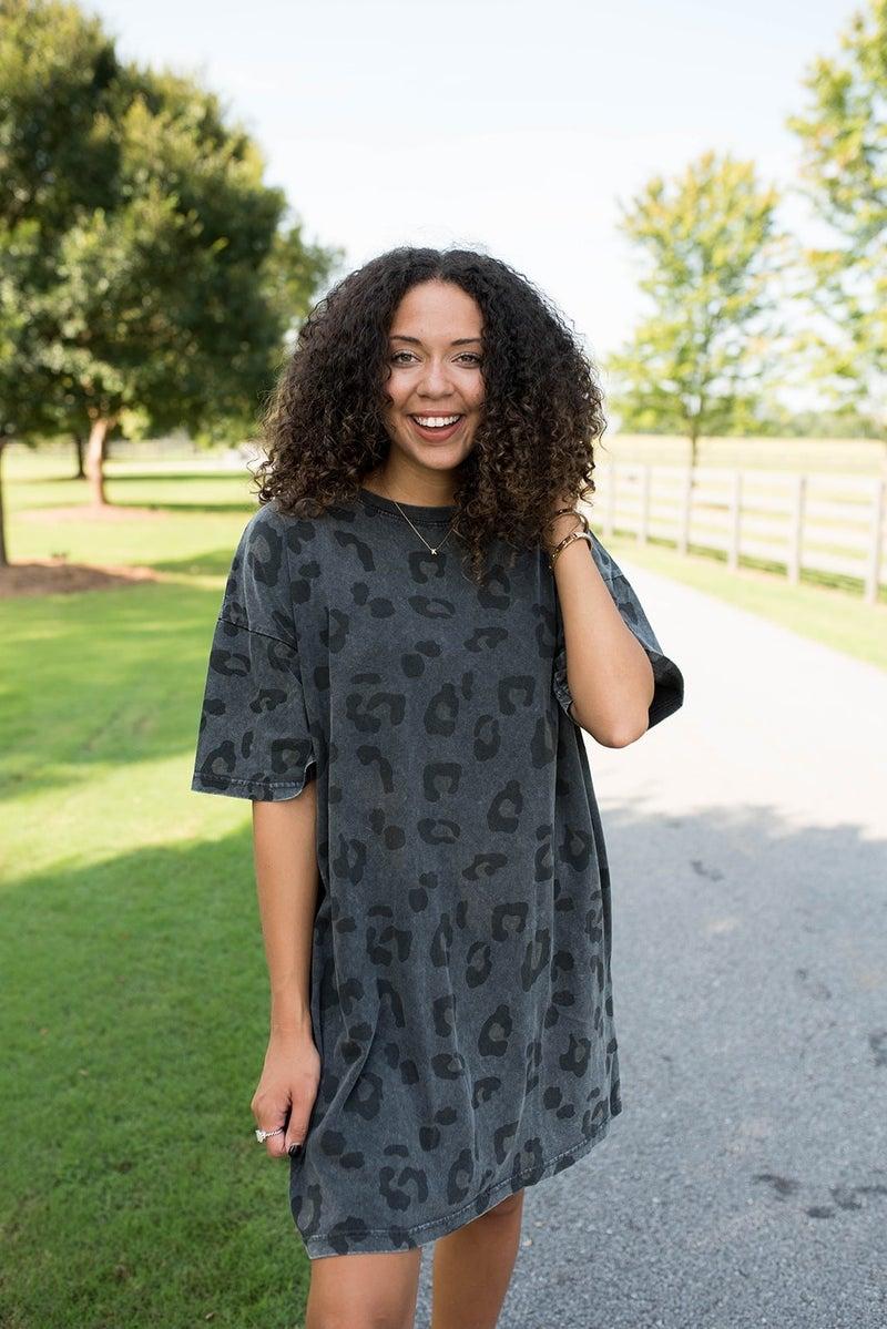 My Favorite Cheetah T-shirt Dress