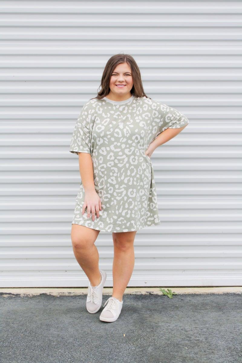 Throw-On Cheetah Dress